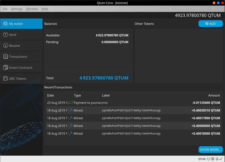 Desktop wallet basic usage · Qtum Documentation